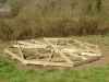An interesting timber frame base, designed and fitted for a yurt