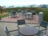 A cafe patio/paving
