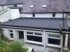 A low flat roof